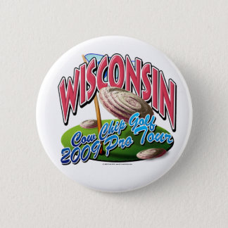 Wisconsin Cow Chip Golf 2 Inch Round Button