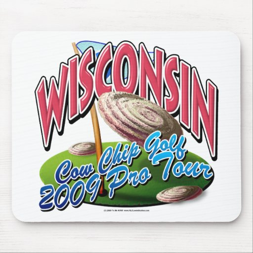 Wisconsin Cow Chip Golf Mousepad