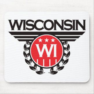 Wisconsin Crest Design Mouse Pad