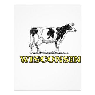 Wisconsin dairy cow letterhead