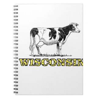 Wisconsin dairy cow notebook