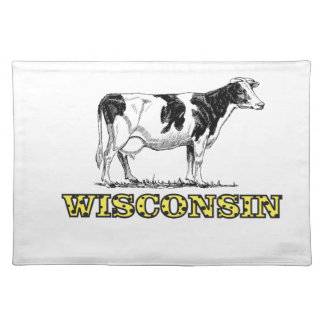 Wisconsin dairy cow placemat