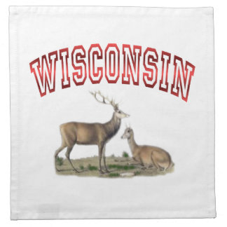 Wisconsin deer scene American MoJo Napkin
