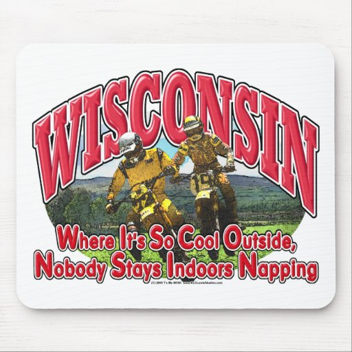 Wisconsin Dirt Bike Mouse Pad