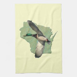 Wisconsin duck American MoJo Kitchen Towel