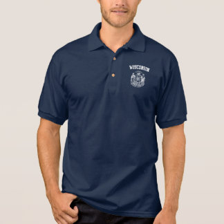 Wisconsin  Emblem Polo Shirt