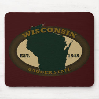 Wisconsin Est. 1848 Mouse Pad