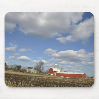 Wisconsin farm on sunny day mouse pad