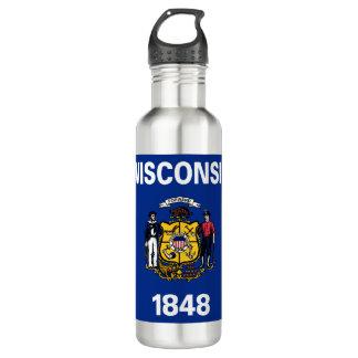 Wisconsin Flag 710 Ml Water Bottle