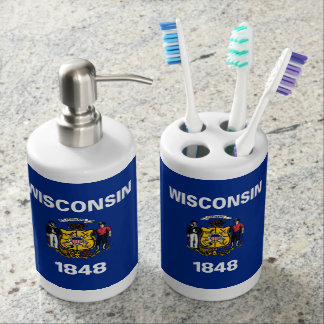 Wisconsin Flag Bathroom Set