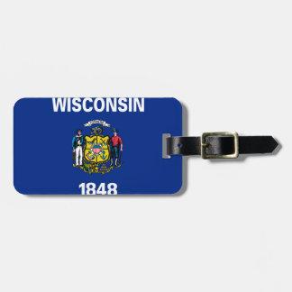 Wisconsin flag luggage tag