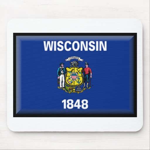 Wisconsin Flag Mouse Pad