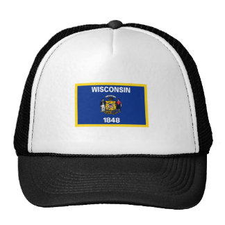 Wisconsin Flag Trucker Hat