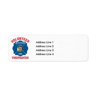 Wisconsin Flag Volunteer Firefighter Cross