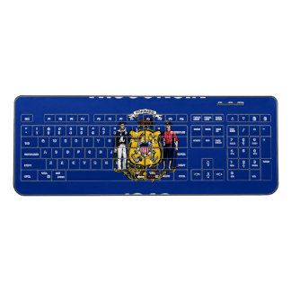 Wisconsin Flag Wireless Keyboard