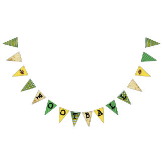 Wisconsin Football Colors Green Gold Party Banner