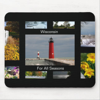 Wisconsin For All Seasons Mouse Pad