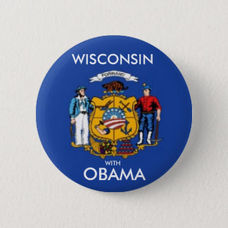 WISCONSIN FORWARD WITH OBAMA Button
