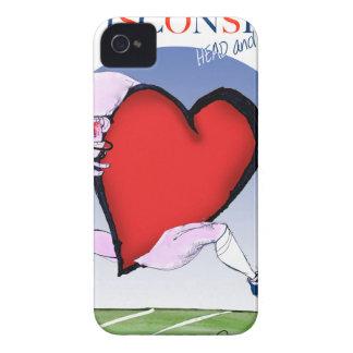 wisconsin head heart, tony fernandes iPhone 4 case