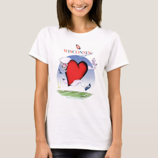 wisconsin head heart, tony fernandes T-Shirt