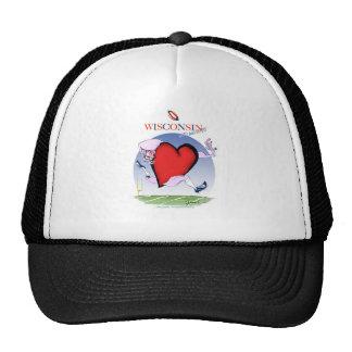 wisconsin head heart, tony fernandes trucker hat