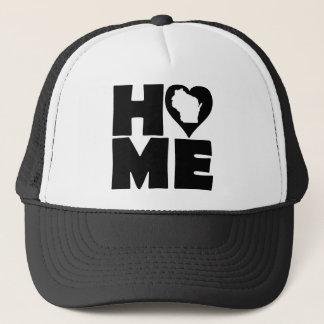 Wisconsin Home Heart State Ball Cap Trucker Hat