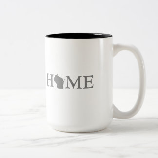 Wisconsin Home State Two-Tone Coffee Mug