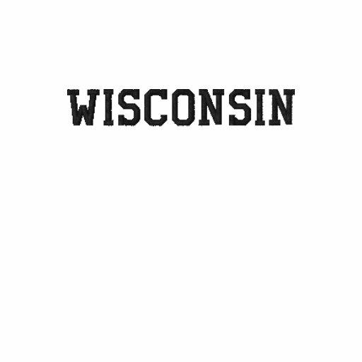 Wisconsin Ladies Petite T-shirt Yellow