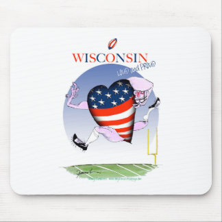 wisconsin loud and proud mouse pad