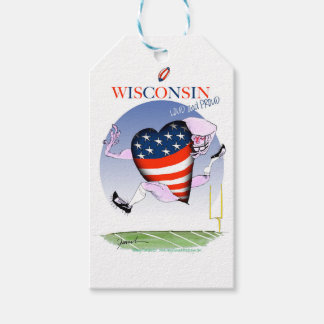 wisconsin loud and proud pack of gift tags