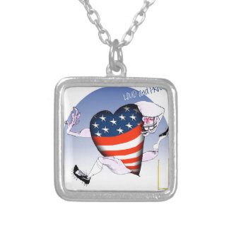 wisconsin loud and proud silver plated necklace