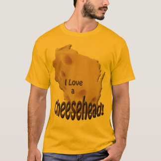 Wisconsin Love a Cheesehead Mens Gold T-shirt