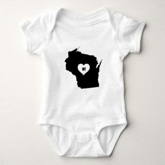 Wisconsin Love Baby Bodysuit