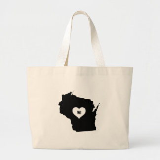 Wisconsin Love Large Tote Bag