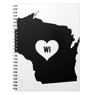 Wisconsin Love Notebook