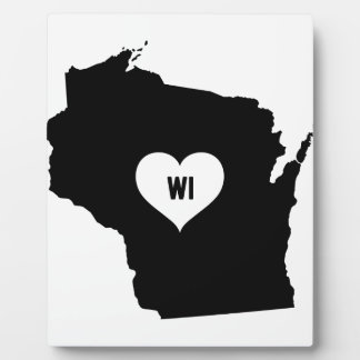 Wisconsin Love Plaque