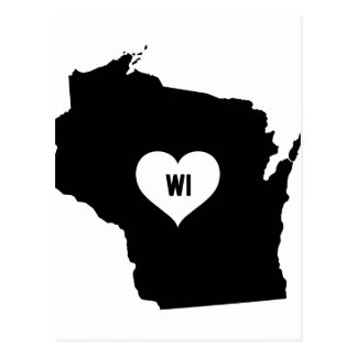 Wisconsin Love Postcard