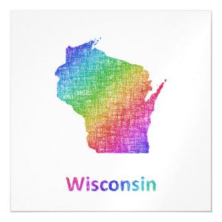 Wisconsin Magnetic Invitations