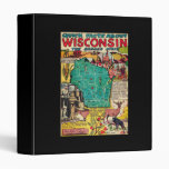 Wisconsin Map and Facts 3 Ring Binder