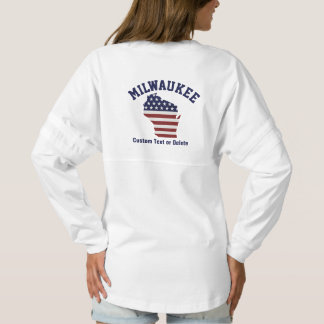 Wisconsin Map | Patriotic USA Flag | Your City Spirit Jersey