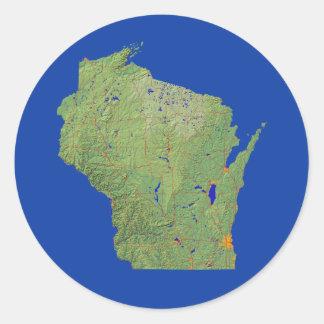 Wisconsin Map Sticker