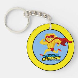 Wisconsin Marathon Post-Marathon Double-Sided Round Acrylic Keychain