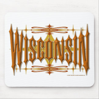 Wisconsin Metal Mouse Pad