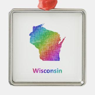 Wisconsin Metal Ornament