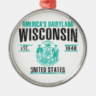 Wisconsin Metal Ornament