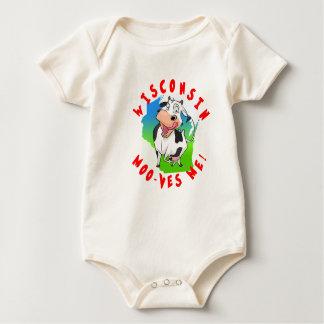 Wisconsin Moo-ves Me! happy baby body suit Baby Bodysuit