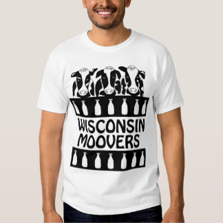 Wisconsin Moovers Dairy Cow Funny Farm T-shirt