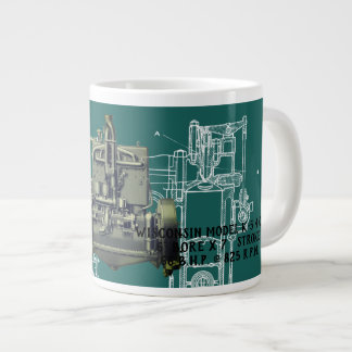 Wisconsin Motor Milwaukee Wisconsin Engine Early K Large Coffee Mug