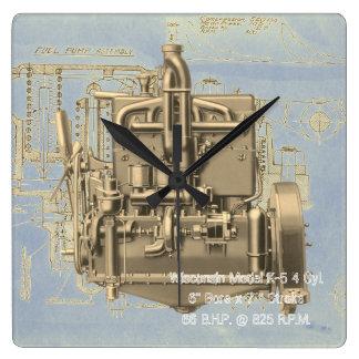 Wisconsin Motor Milwaukee Wisconsin Engine Early K Square Wall Clock