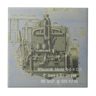 Wisconsin Motor Milwaukee Wisconsin Engine Early K Tile